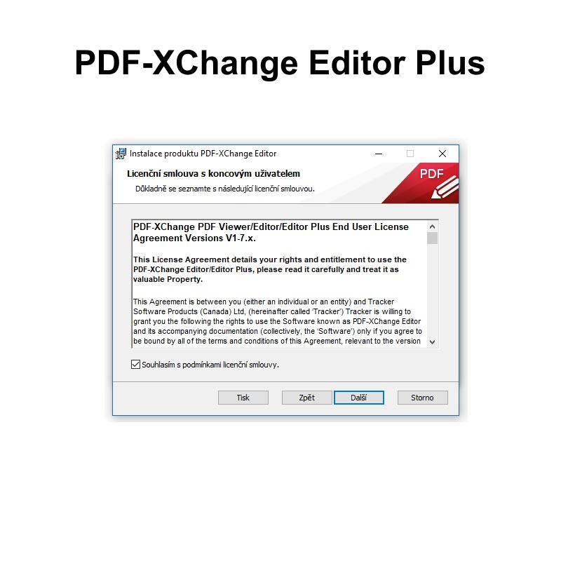 PDF-XChange editor Plus - 3 uživatelé